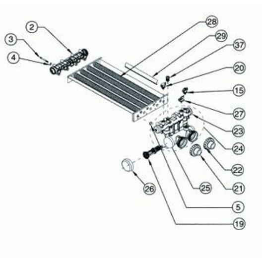 Pentair - Heat Exchanger Only, Model 350 - 407783