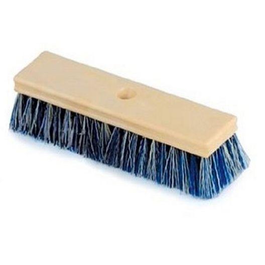10 in. Blue & White Crimped Bristle Deck & Tile Brush