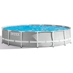 Intex - Prism Frame 15 ft Round Above Ground Pool - 409902