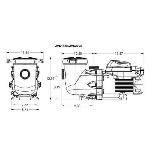 Jacuzzi&reg  JVS270S 2.7THP Variable Speed Pump