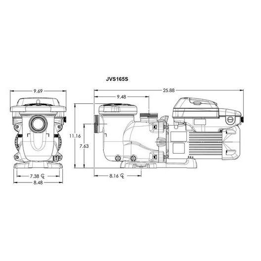 Jacuzzi&reg  JVS165S 1.65THP Variable Speed Pump