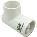 Thermowell and Plumbing Fitting, 1-1/2 inch Socket, 90 degree, 5/16 Inch Thermowell