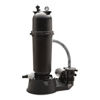 Jacuzzi - 100 sq. ft. Cartridge Filter and 1 HP Dual Speed Pump Combo for Above Ground Pools - 41140