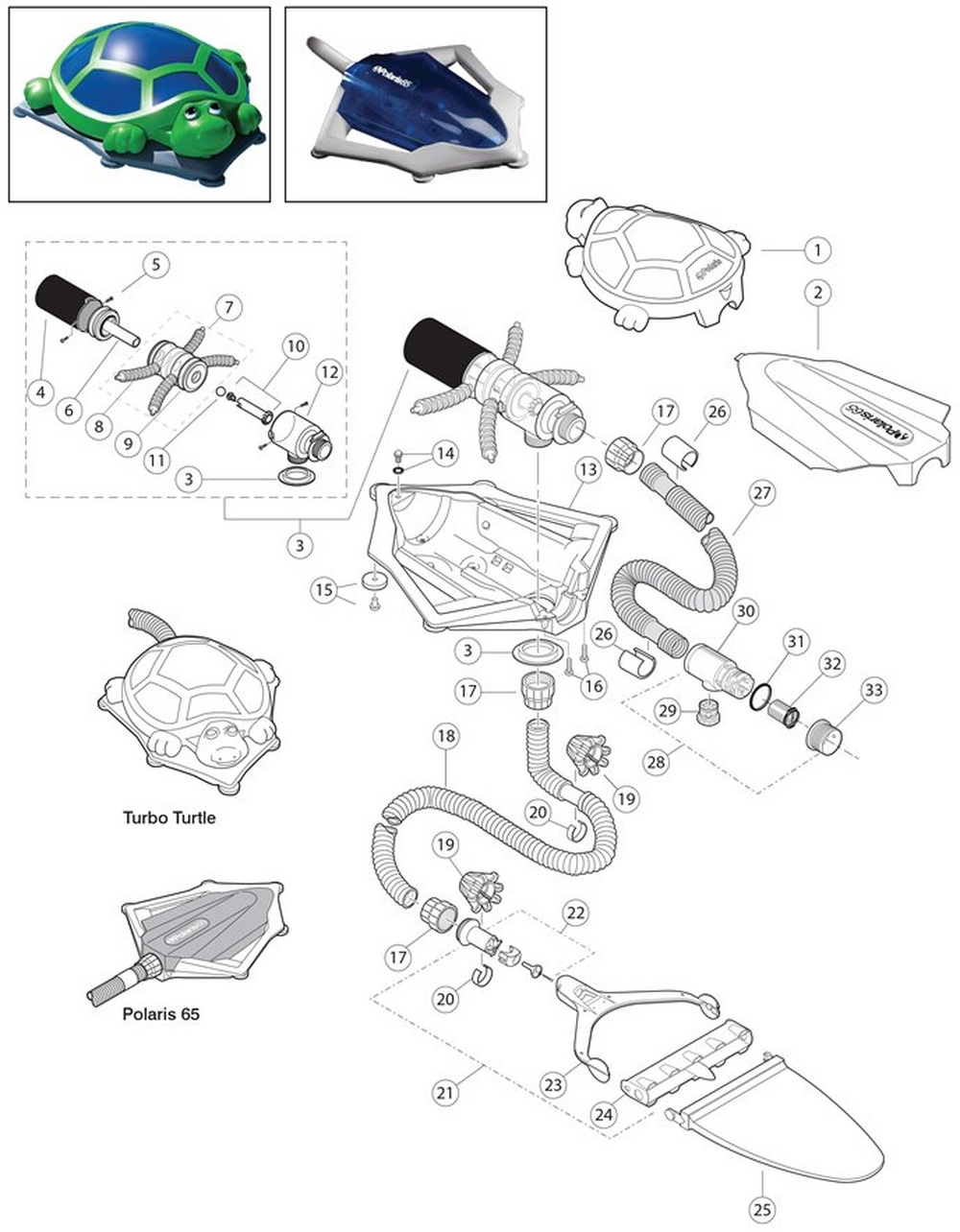 65 & Turbo Turtle Cleaner Parts image