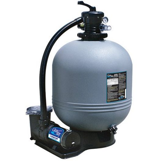 "Waterway - ClearWater 22"" Above Ground Pool Filtration System with 2 HP Pump and 3' NEMA Cord - 42015"