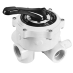 Vari-Flo Control 1-1/2in. FIP Valve Side Mount In LIne Sight Glass, White