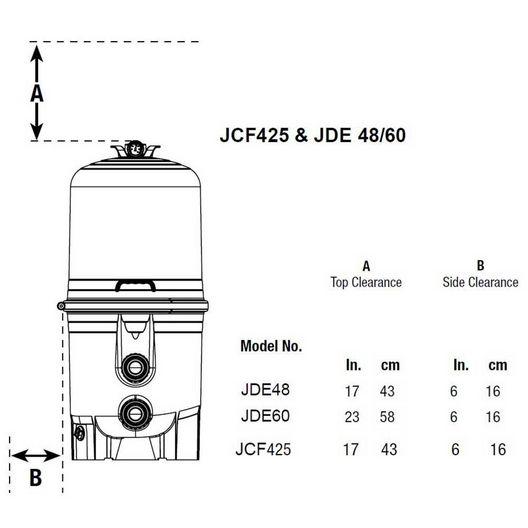 Jacuzzi  JDE60 60sq ft DE In-Ground Pool Filter