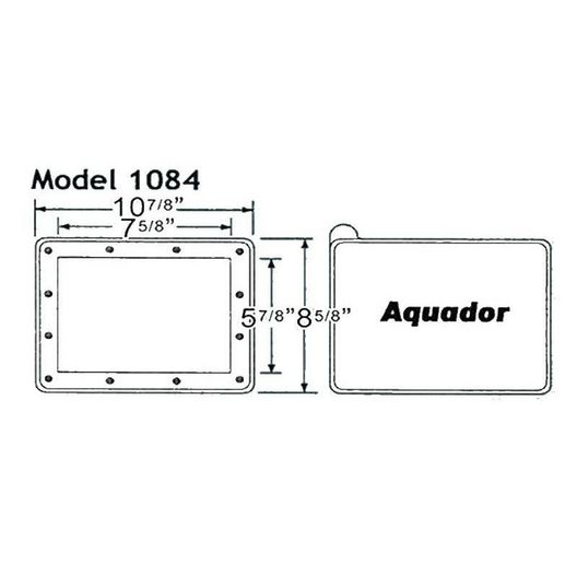 Skimmer Faceplate and Lid for Hayward In-Ground Pool Skimmer