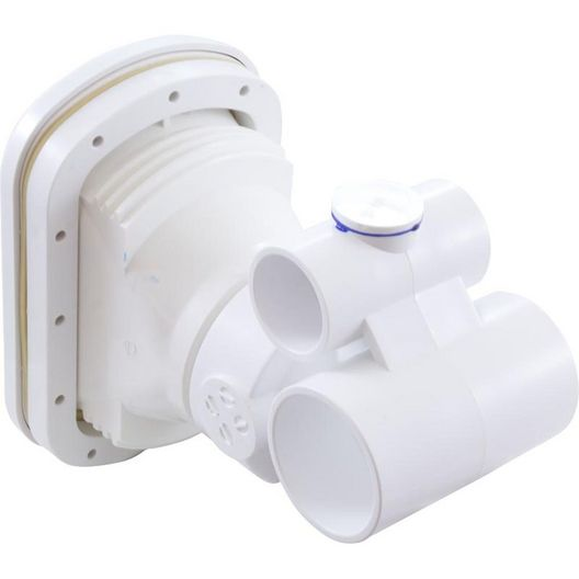 Balboa - Complete Jet, Hydro-Air Vertassage w/ backing plate, 1-1/2 inch S water x 1 inch S air, Hole size 5-1/4 inchW x 7 inchH, White - 426189