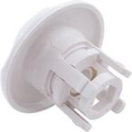 Mini Pulsator Snap-In Spa Jet Eyeball Internals with Five-Scallop Textured Escutcheon, White