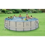 ProSeries Round Above Ground Pool with Metal Frame