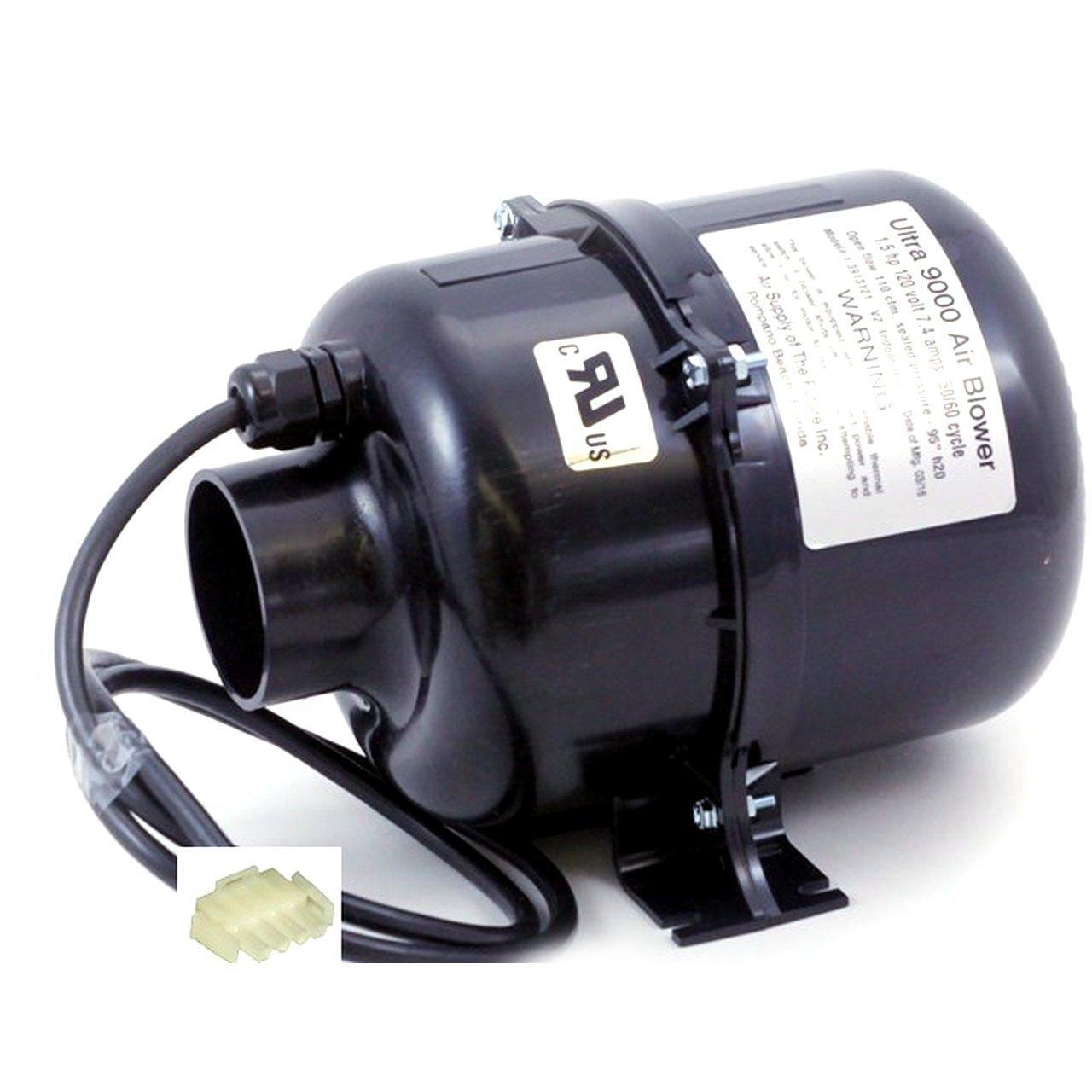 240V Air Supply 3910220 Air Blower Ultra 9000 1.0 hp 2.4 Amp