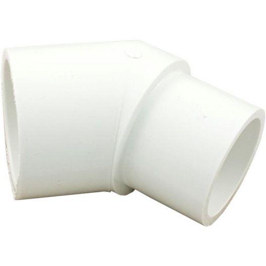 Waterway  PVC 45 Degree Street Elbow 1.5in Spigot X 1.5in Socket