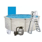 "Weekender II 15' Round 52"" Tall Above Ground Pool Package - 387865"