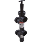 Pentair - Valve, Push-Pull 8in. Center with Union, Black - 44073