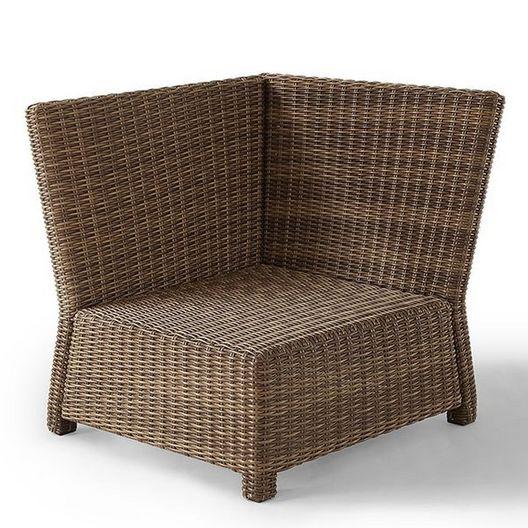 Crosley  Bradenton Navy Cushion Corner Chair