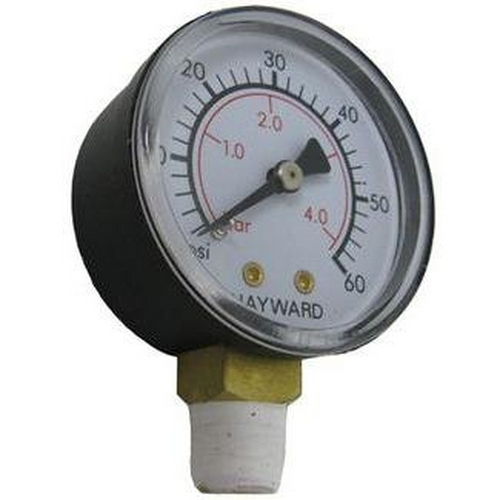 Hayward - Gauge, Pressure 1/4in. Bottom Connection NPT 0-60 PSI 2in. Face OEM