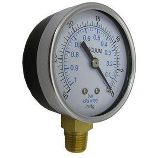 Co. Inc Gauge, Vacuum 1/4in. Bottom Connection NPT 0-30 HG 2-1/2in. Face