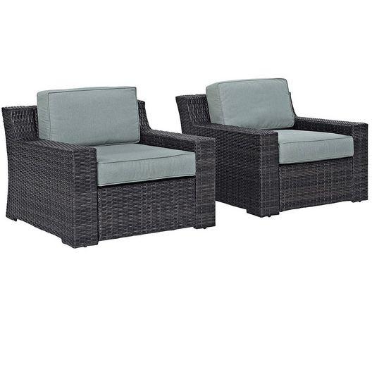 Crosley - Beaufort 2-Piece Outdoor Wicker Seating Set - Brown Finish - 452056
