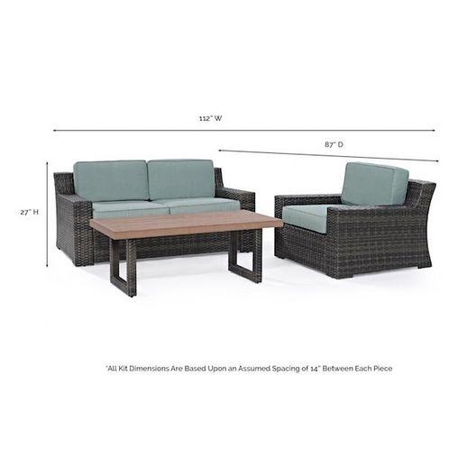 Crosley - Beaufort 3-Piece Wicker Set - 452058