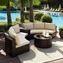 Catalina 4-Piece Wicker Sectional Set