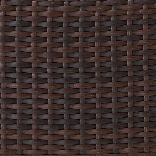 Crosley - Kiawah 2-Piece Wicker Conversation Set with Arm Chair, Ottoman and Sangria Cushions - 452221
