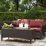 Kiawah 2-Piece Wicker Conversation Set with Sangria Cushions