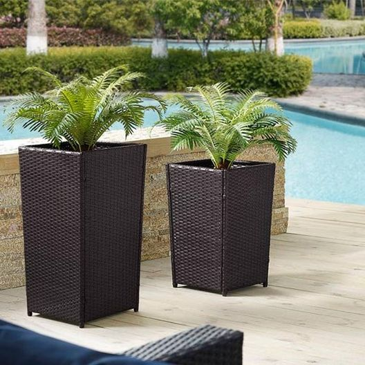 Crosley - Palm Harbor Wicker Planter Set - 452340