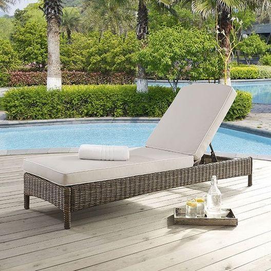 Crosley - Bradenton Sangria Cushion Chaise Lounge - 452184