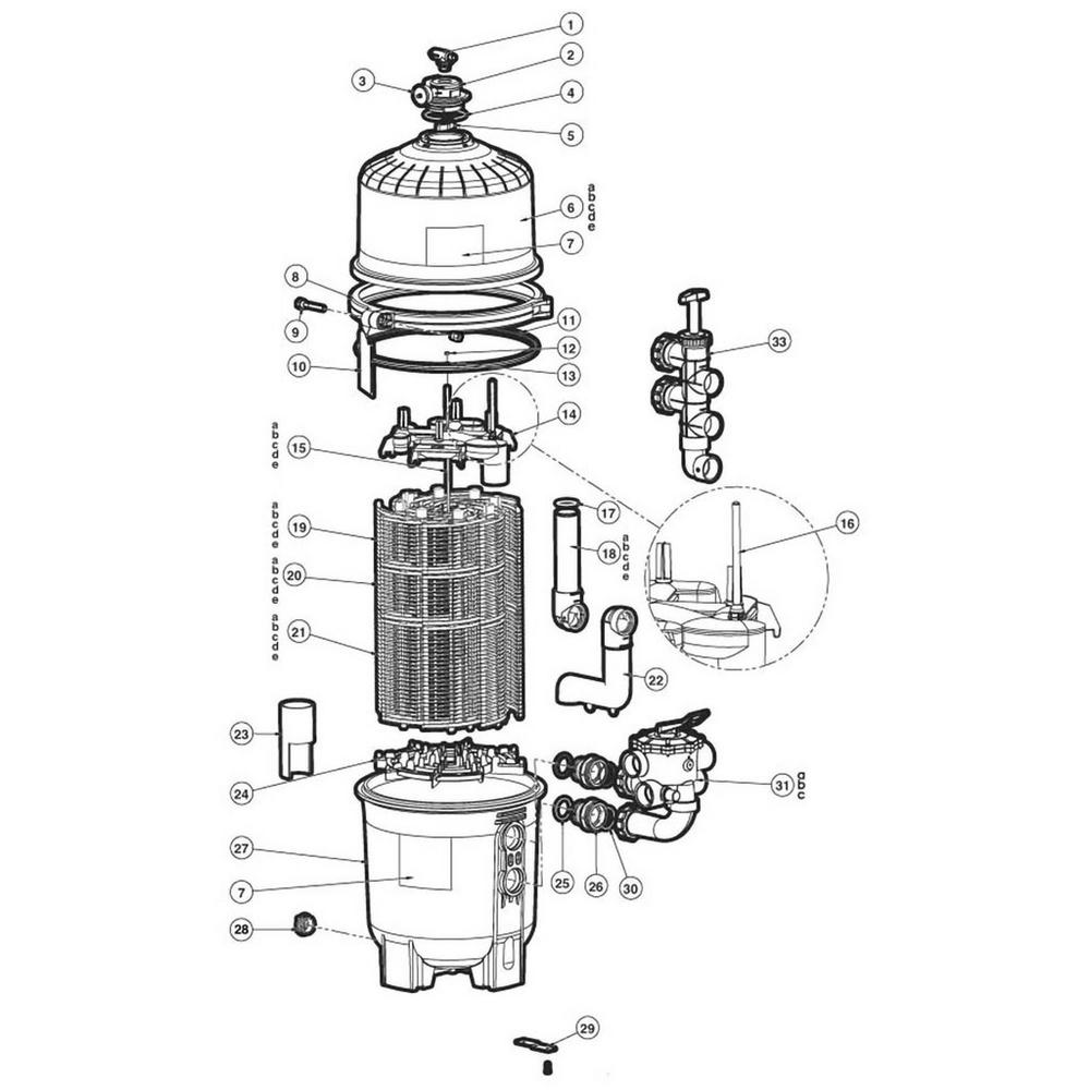 Pro-Grid D.E. Filter Parts image