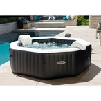 "86"" X 28"" PureSpa Jet and Bubble Deluxe Inflatable Spa Set, 6-Person"
