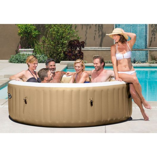 "Intex - 85"" X 28"" PureSpa Bubble Massage Inflatable Spa Set, 6-Person - 48884"