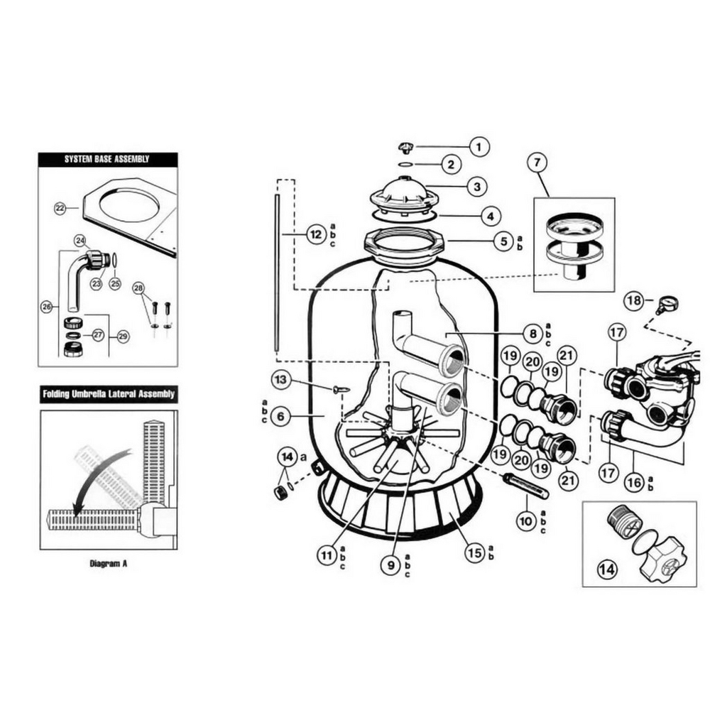 Pro Series: S210S, S244S & S310S Sand Filter Parts image