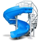 S.R. Smith Vortex Open Flume Complete Pool Slide, 10ft 7in Tall with 19ft Corkscrew