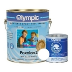 Olympic Poxolon Epoxy Pool Paint, 1 Gallon, Blue Ice