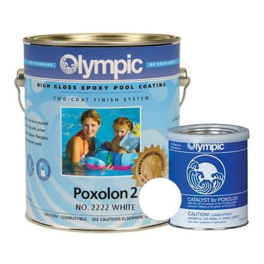 Olympic Poxolon 2 Epoxy Pool Paint, 1 Gallon, Viking Blue