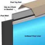Swimline - 15' x 30' Oval Unibead Pacific Diamond Perma 25 Above Ground Pool Liner, Depth, 52in. - 500612