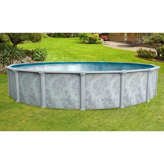 "Ambassador 21' Round 52"" Tall Above Ground Pool Wall"