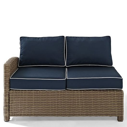 Crosley  Bradenton Left Corner Navy Cushion Loveseat