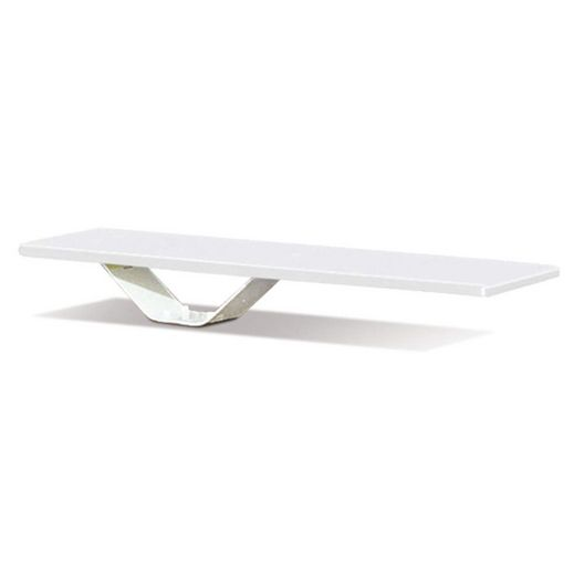 6' Frontier II Pewter Gray/White Diving Board with Frontier II Stand