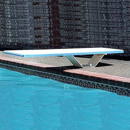 S.R. Smith - 8' Frontier II Diving Board with Frontier II Stand, Pebble/White - 501227