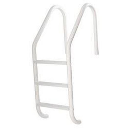 24in. Economy 3 Step Ladder Econoline Radiant White Sealed Steel