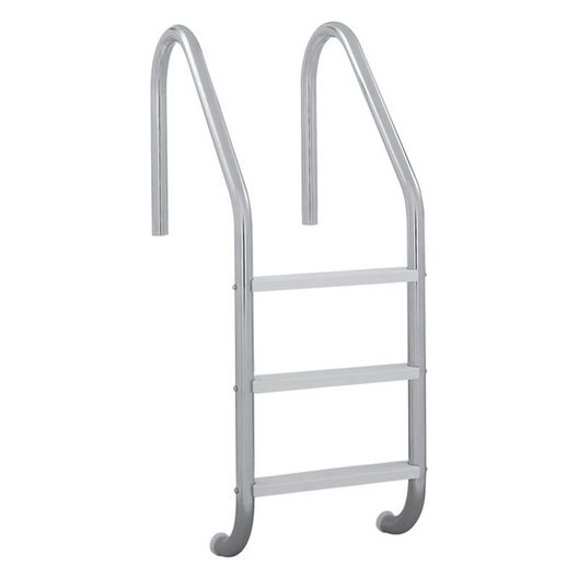 24in. Economy 3 Step Ladder Econoline Pewter Gray Sealed Steel