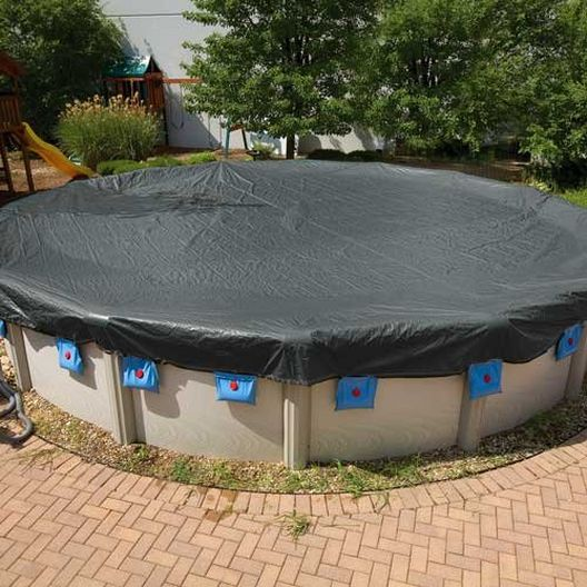 Leslie's - Steel Guard 24 ft Round Above Ground Winter Cover, 15-Year Warranty - 501429