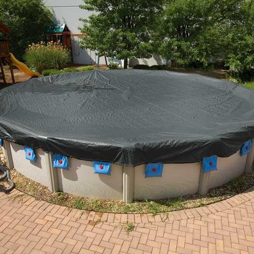 Leslie S Steel Guard 12 X 24 Oval Above Ground Winter Cover 15 Year Warranty