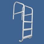 "Saftron - 30"" Commercial 3-Step Cross Braced Pool Ladder, White - 501908"