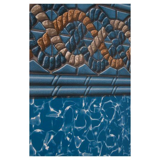 Swimline - Beaded 18' Round Mystri Gold 52 in. Depth Above Ground Pool Liner, 20 Mil - 503026