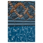 Beaded 12' x 18' Oval Mystri Gold 52 in. Depth Above Ground Pool Liner, 20 Mil