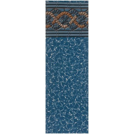 Beaded 18' x 33' Oval Mystri Gold 52 in. Depth Above Ground Pool Liner, 20 Mil