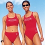 Men's Lifeguard Red Long Shorts - Medium